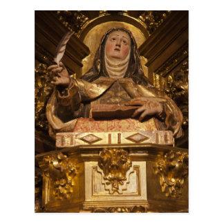 Religious art representing Santa Teresa Postcard