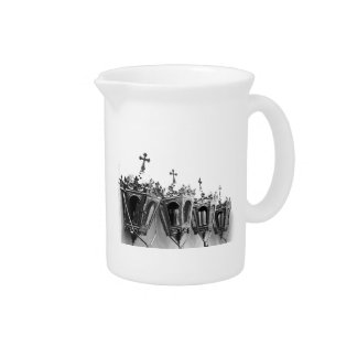 Religious artifacts beverage pitcher