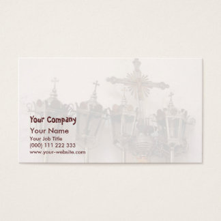 Religious artifacts business card