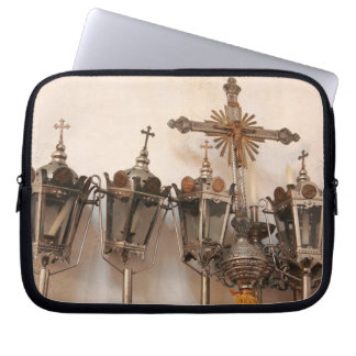 Religious artifacts laptop computer sleeves