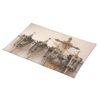 Religious artifacts placemat