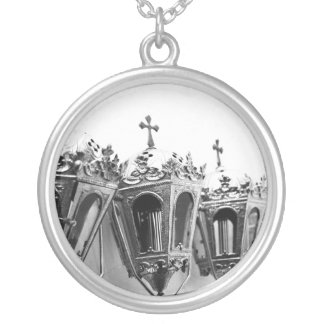 Religious artifacts silver plated necklace