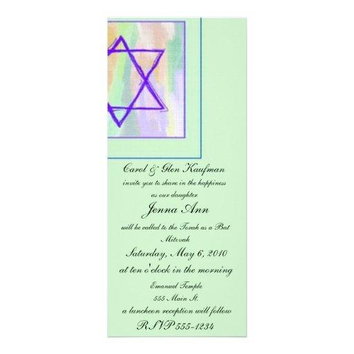 Religious, Bar Mitzvah, Bat Mitzvah Invitation
