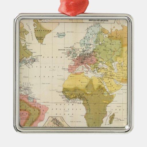Religious belief square metal christmas ornament