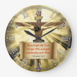 Religious Bible Quote Verse Personalizable Clock at Zazzle
