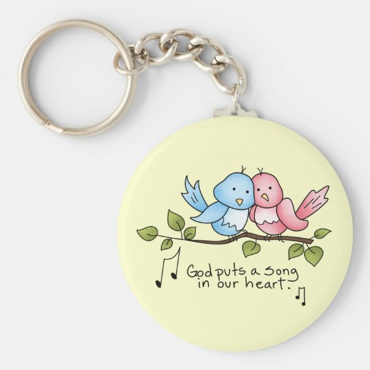 Religious Birdie key chain