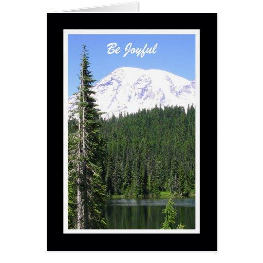 Religious Birthday Card -- Be Joyful