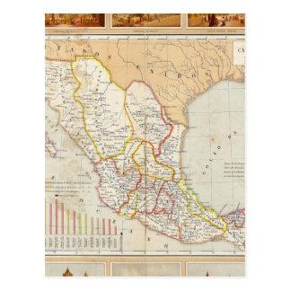Religious Chart of Mexico Postcard