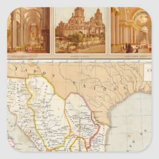 Religious Chart of Mexico Square Sticker