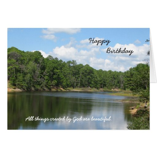 Religious Christian Birthday Greeting Card