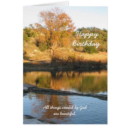 Religious Christian Birthday Greeting Card - River