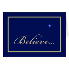 Religious Christian Christmas Card -- Believe at Zazzle