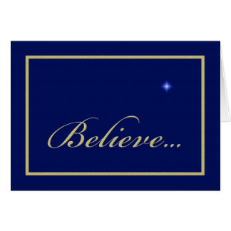 Religious Christian Christmas Card -- Believe