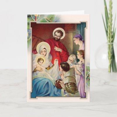 Merry Christmas, Joyeux Noël, Kaj Siab Yes Xus Yug... Religious_christmas_card-p137315999941665835tdtq_400