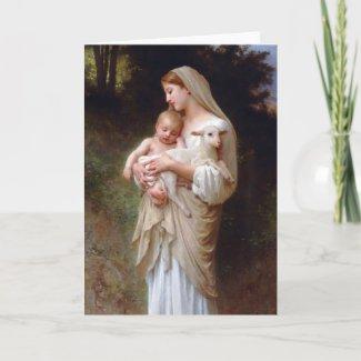 Religious Christmas card card