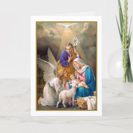 Beautiful Religious Christmas Cards.Religious Christmas Cards A Holy Scene
