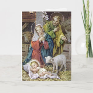 Religious christmas cards zazzle religious christmas cards the holy family m4hsunfo