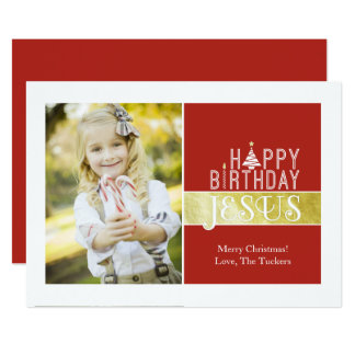 Religious Christmas Photo Card - Jesus Birthday