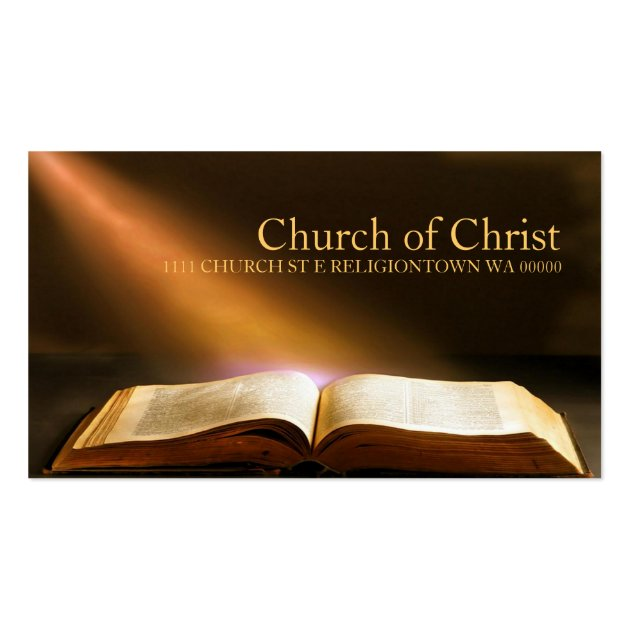 Religious Church Christianity Religion Bible Business Card