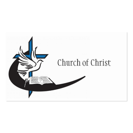 Religious church christianity religion pastor double sided for Church business cards templates free