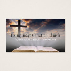 Religious Church Christianity Religion Pastor Business Card at Zazzle