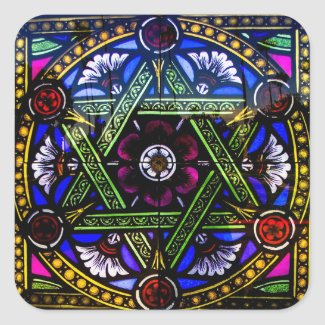 Religious Church Stained Glass Window Sticker