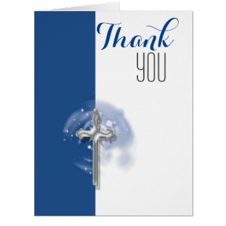Religious confirmation angel thank you greeting cards