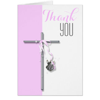 Religious confirmation angel thank you card