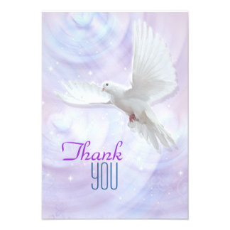 Religious confirmation dove thank you 2 custom announcement