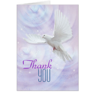 Religious confirmation dove thank you card