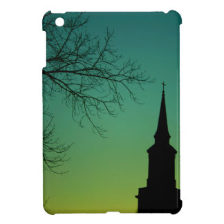 Religious Country Church Steeple Cross Shadow Cover For The iPad Mini