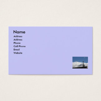 Religious Cross & Clouds Business Card