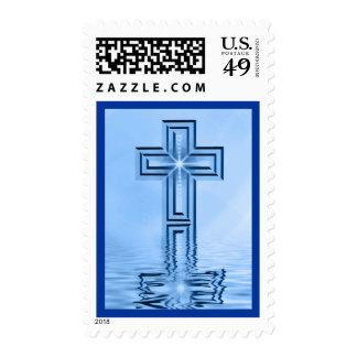 Religious Cross Postage Stamp