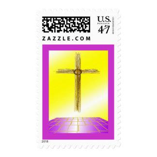 Religious Cross Postage Stamps