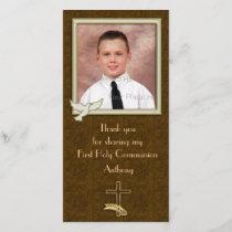 Religious Dove Cross Paisley Thank You Card