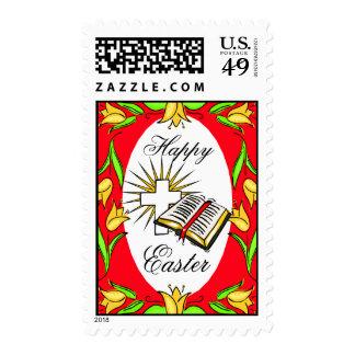 religious easter  design stamp