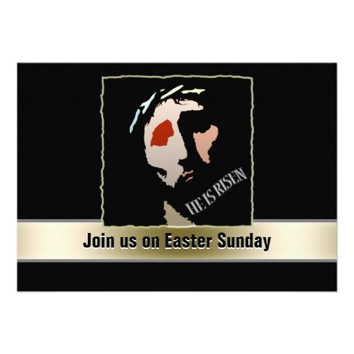 Religious Easter Jesus Bible Verse Quote Risen Custom Announcement