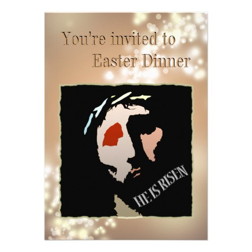 Religious Easter Jesus Bible Verse Quote Risen Personalized Announcement