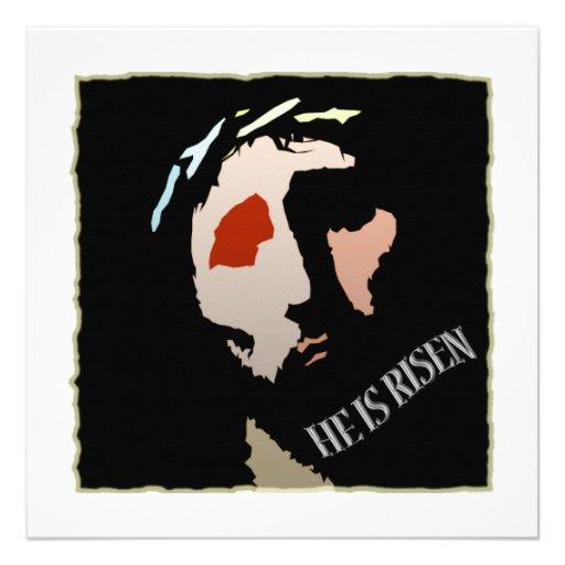 Religious Easter Jesus Bible Verse Quote Risen Announcements