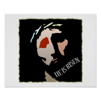 Religious Easter Jesus Bible Verse Quote Risen Poster