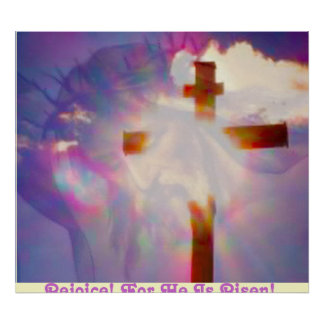 Religious Easter Poster - Jesus and Cross
