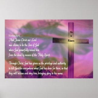 Religious Easter Poster - Jesus - He is Risen