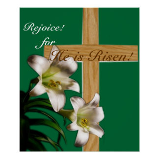 Religious Easter Poster Print - He is Risen!