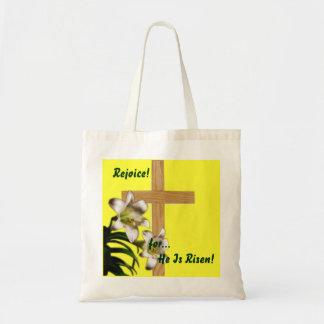 Religious Easter - Rejoice for He is Risen - Bag