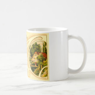 Religious Easter with Cross & Vignette Coffee Mugs