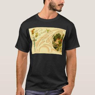 Religious Easter with Cross & Vignette T-Shirt
