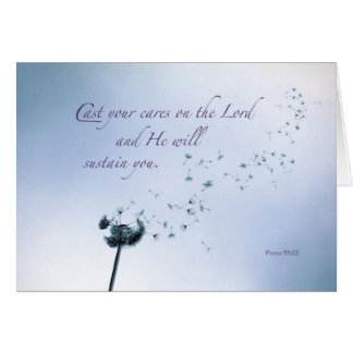Religious Encouragement and Support, Dandelion Greeting Card