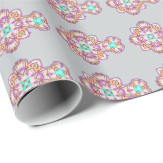 Religious Event Ornate Colorful Crucifix Design Wrapping Paper