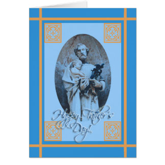 Religious Father's Day, St. Joseph and Jesus Card