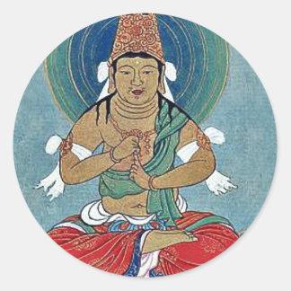 Religious figure sitting on a lotus sticker